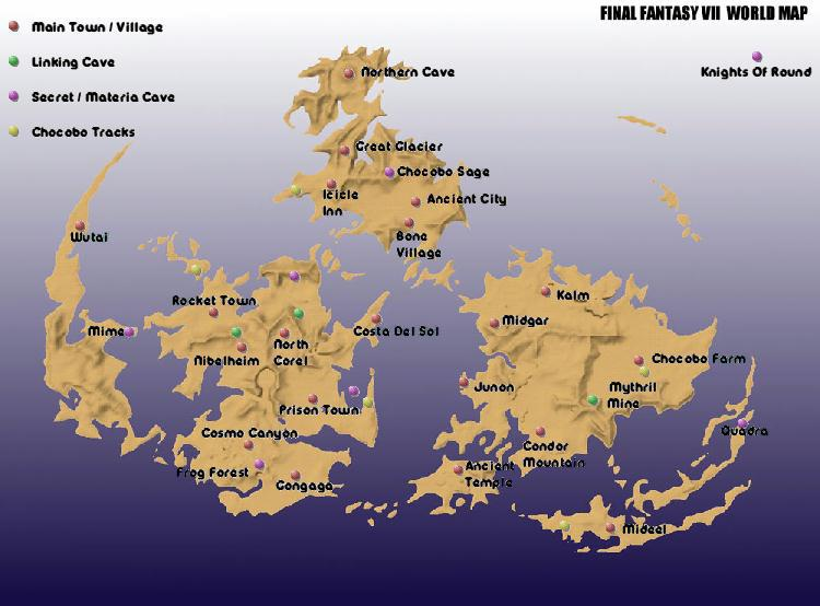Final Fantasy Vii The Ultimate Guide World Map